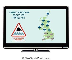 United Kingdom weather flood warning
