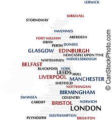 United Kingdom Word Cloud map - United Kingdom map made from...