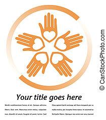 United loving hands design.