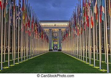 united-nations, 日内瓦, 瑞士, hdr