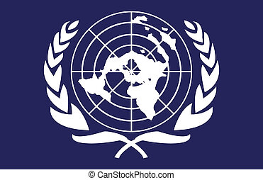 United Nations flag - This image is a vector illustration...