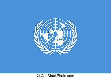 United Nations Flag - Illustration of the United Narional...