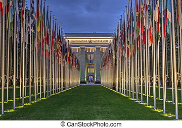 United-Nations, Geneva, Switzerland, HDR - United-Nations by...
