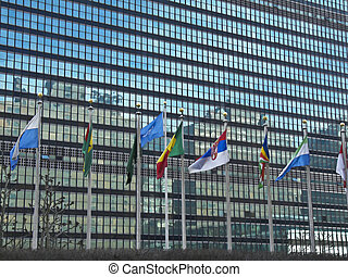 United Nations headquarters - United Nations building in New...