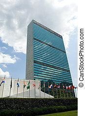 United Nations in session - UN headquarters building in New ...