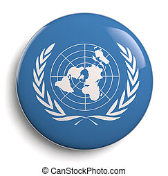 United Nations symbol isolated on white.