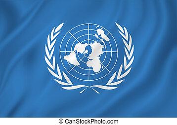 United Nations UN flag backgound.