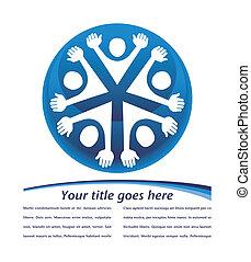 United people globe design. - United people globe design...