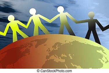 United People - People united around the globe. Concept...