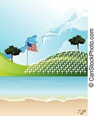 United Sates of America war graves