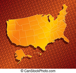united state 03 - a stylized monochromatic map of the united...