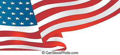 United State Of America flag isolated vector