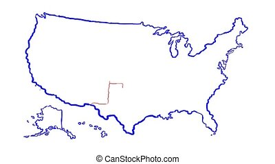 united state of america map