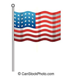 united state of american flag in stick