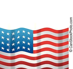 united state of american flag vector illustration design