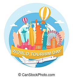 United States America City Travel World Tourism Day