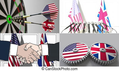 United States and Great Britain cooperation. Conceptual...