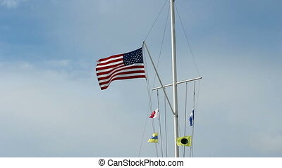 United States And Nautical Flags - Flags Flying From...