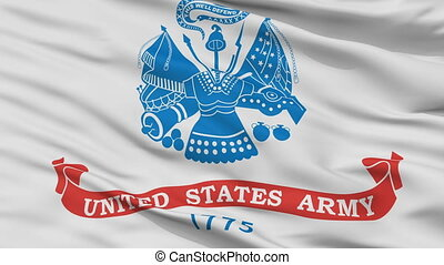 United States Army Flag Closeup Seamless Loop