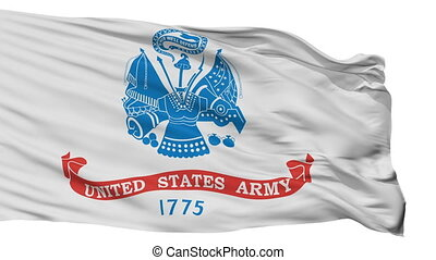 United States Army Flag Isolated Seamless Loop - The United...