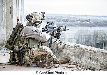 United States Army ranger during the military operation