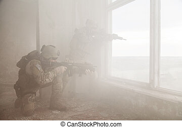 United States Army rangers in action