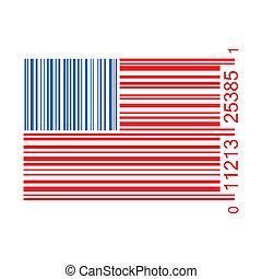 United States Bar Code Illustration