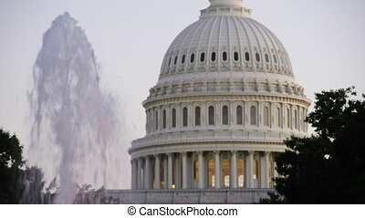 United States Capital with Fountain 3