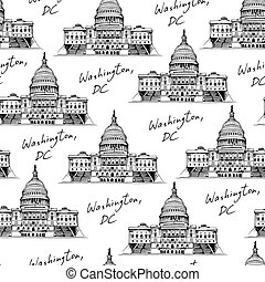 United States Capitol Building (Capitol Hill) seamless...