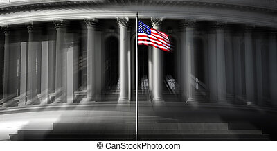 United States Capitol Building in Washington DC public building Zoom Action
