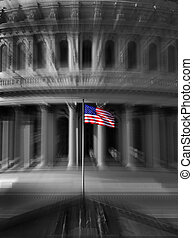 United States Capitol Building in Washington DC Zoom Action Government of Freedom