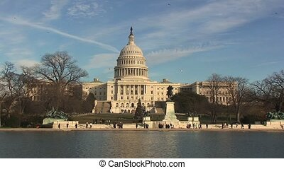 United States Capitol Building with Lake Front