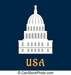 United States Capitol flat symbol