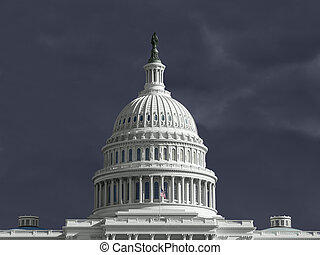 United States Capitol Thunderstorm