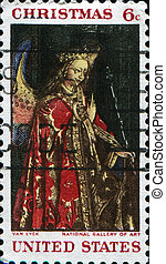 Angel Gabriel from The Annunciation, Jan Van Eyck