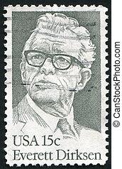 Everett Dirksen - UNITED STATES - CIRCA 1981: stamp printed...