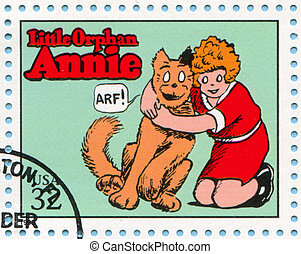 Comic Strips - UNITED STATES - CIRCA 1995: stamp printed by...