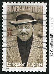 Langston Hughes - UNITED STATES - CIRCA 2002: stamp printed...