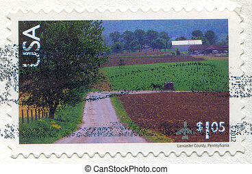 Pennsylvania - UNITED STATES - CIRCA 2012: stamp printed by...