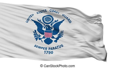 United States Coast Guard Flag Isolated Seamless Loop -...