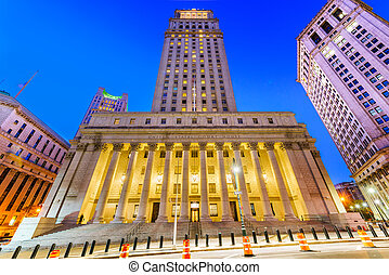 United States Court House in the Civic Center district of New York City.?