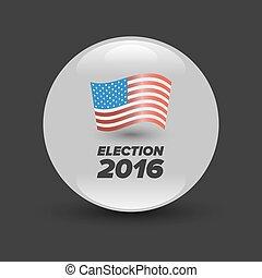 United States Election Vote Badge