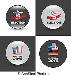 United States Election Vote Badges
