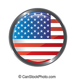 united states flag button