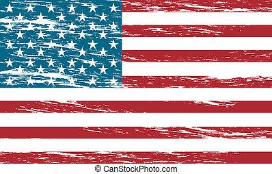 united states flag grunge background. vector illustration