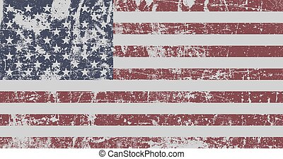 Distressed Flag Of United States Of America. EPS10 vector.