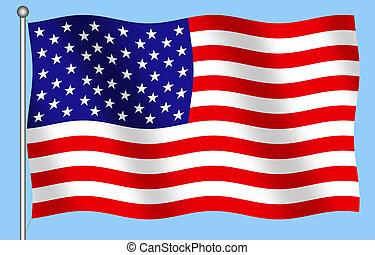 United States Flag - Computer Illustration of the United...