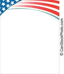 United States flag frame