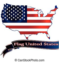 United States Flag Glossy Button.