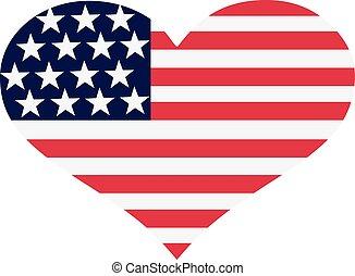 United States flag heart